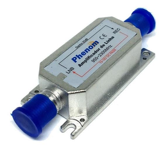 Chave Amplificadora De Linha Satélite 20db Phenom
