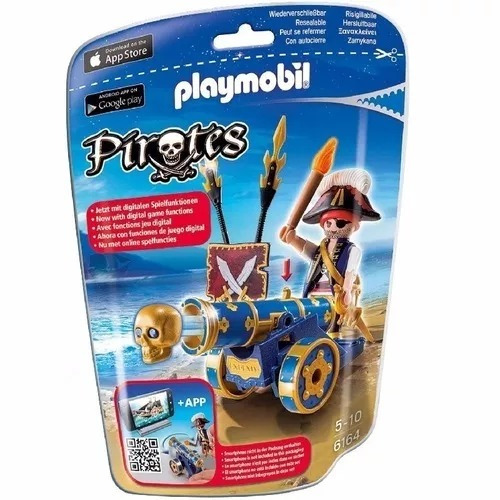 Playmobil Pirata Con Cañon Azul Intek
