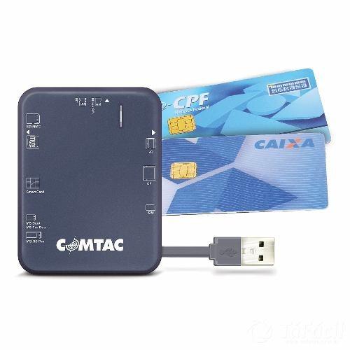 Leitor De Cartoes Usb 2.0 Para Smart Card