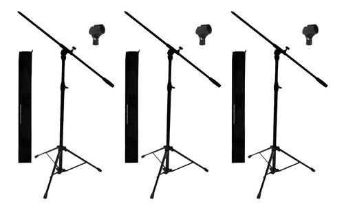 Pie Soporte Mxp Para Microfono Metalico Y Abs Con Funda X3