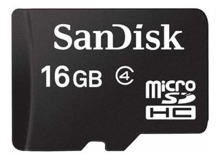 Cartão de memória SanDisk SDSDQM-016G-B35A com adaptador SD 16GB