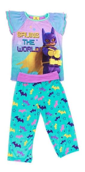 Pijama Lego Batman Batigirl Morado Para Niña Con Pantalón