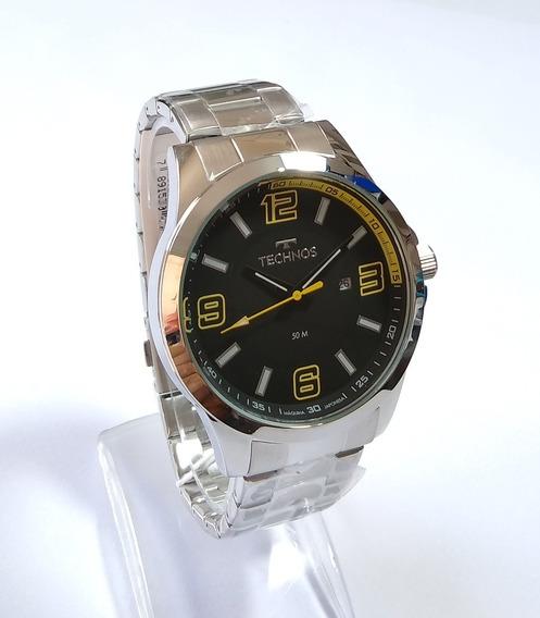 Relógio Masculino Prateado Technos Performance 2115klm/1y.