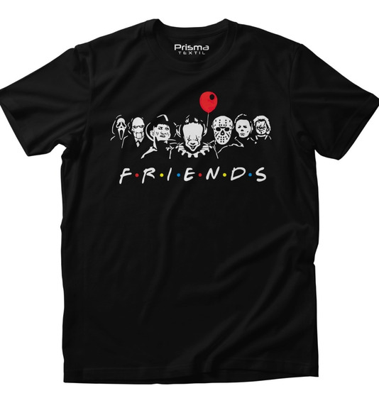 Playera Friends Halloween It Chucky Hombre Mujer
