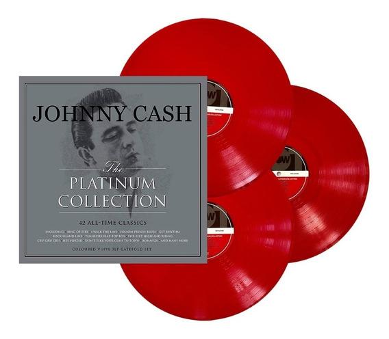 Lp Johnny Cash Triplo Platinum Collection Importado Lacrado