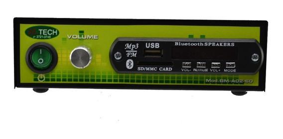 Amplificador Bmtech + 2 Arandelas Jbl Quadrada Original