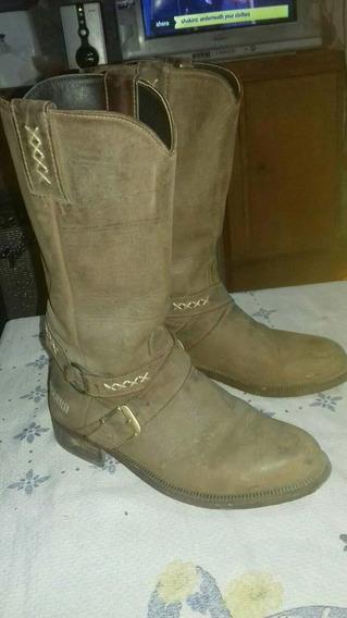 Botas De 100% Cuero Charro