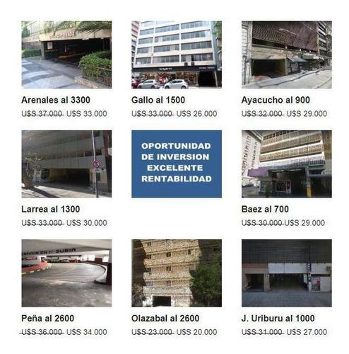 Gran Negocio Inmobiliario. Lote De Cocheras En Ubicaciones Premium.