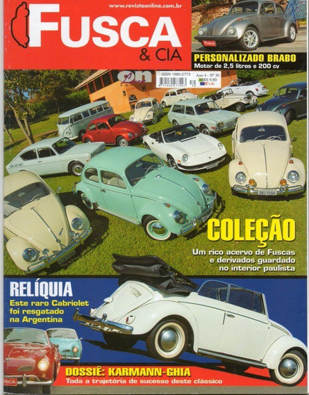 Fusca & Cia Nº30 Karmann Ghia Vw Cabriolet 1953 Wm Ii 1984