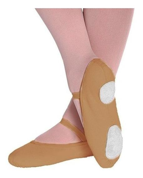 Sapatilha Ballet Balé Meia Ponta Lona Ovinho 20 Ao 43
