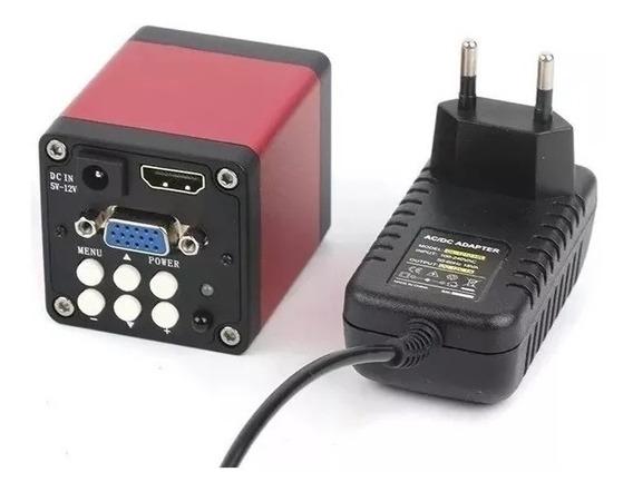 Câmera Microscópio Trinocular 720p Hd Digital Hdmi Vga 14mp