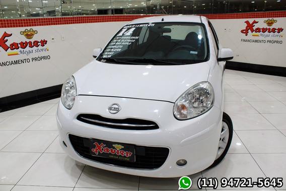 Nissan March Sv 1.6 Branco 2014 Financiamento Próprio 8964
