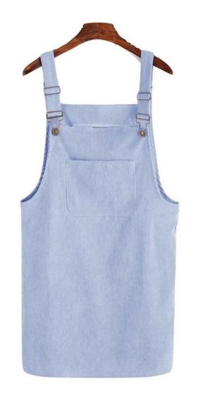 Vestido Casual Overol Azul Vestidos Casuales Ropa Mujer