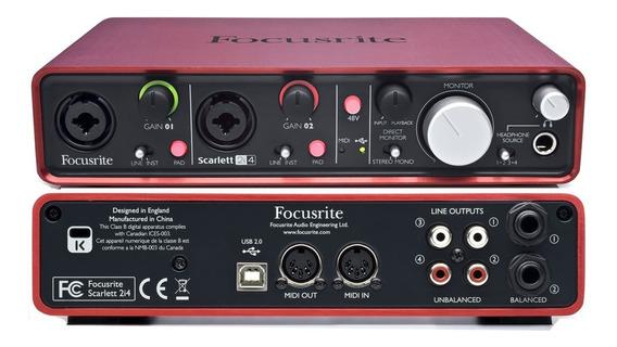 Tarjeta De Sonido Interface Scarlet 2i4