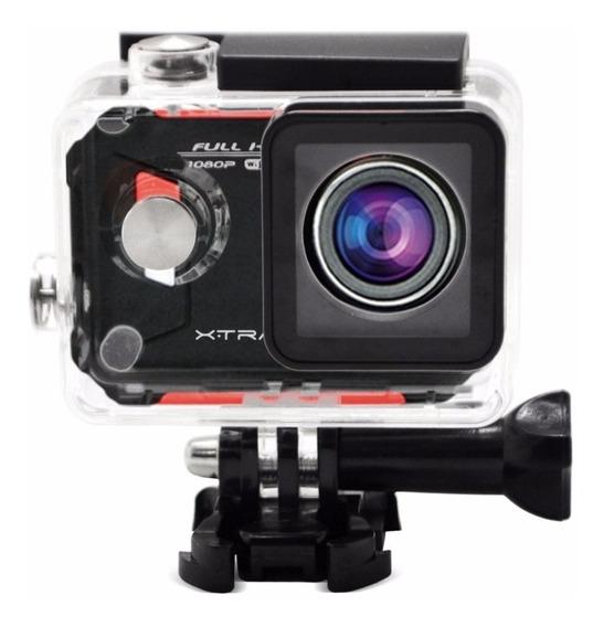 Câmera Xtrax Evo Full Hd 12mp Wifi Tela Lcd 1.5 Lente Fish
