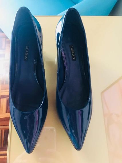 Sapato Corello - Verniz Azul