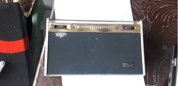 Rádio Portátil Antigo Hitachi Japonês Transistorizado Raro