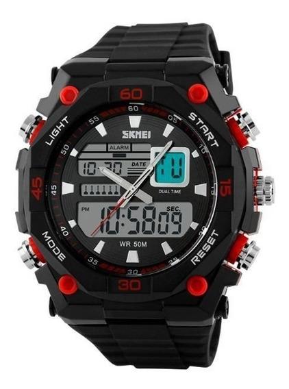 Relógio Skmei Masculino Analógico Digital 1092 Vermelho