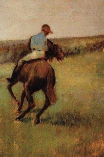 Jockey In Blue On A Chestnut Horse By Edgar Degas : Journal