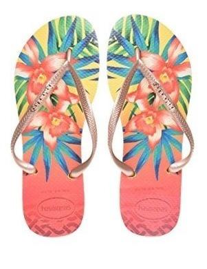 Sandalias Damas Havaianas Slim Tropical - Amarilla 39/40