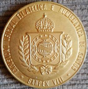 Arremate Medalha Sampex Vlll - 80g Bronze Rara