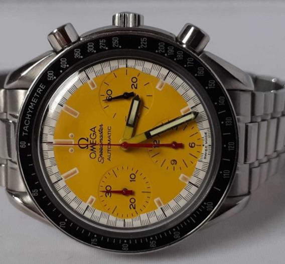 Omega Speedmaster Schumacher Amarelo -todo Aço - Raridade