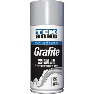 Grafite Spray 200ml Tek Cadeado Fechadura Canaleta Vidros