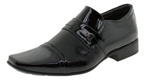Sapato Masculino Social Jota Pe - 77701 Verniz/preto
