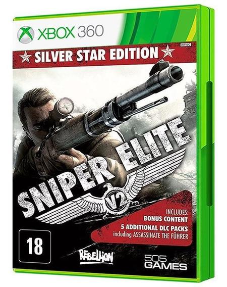 Sniper Elite V2 Silver Star Edition Xbox 360 - Mídia Física