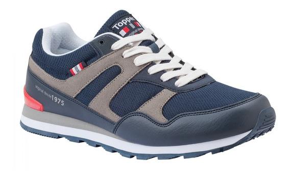 Zapatillas Topper Otto Hombre Azul/rojo/gris 35 Al 45 24285