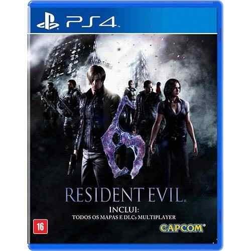 Jogo Terror Mídia Física Resident Evil 6 Original Play Ps4