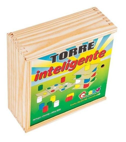 Brinquedo Pedagogico Carlu Torre Inteligente Madeira Ref. 12