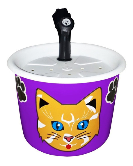 Bebedouro Fonte Para Gatos 1,5l Violeta Escuro