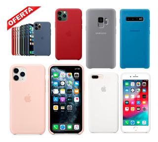 Estuche Silicone iPhone Samsung 6 7 8 Plus X 11 Pro S9 S10