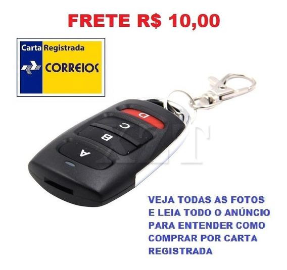 Controle Portão Alarme 433mhz 4 Botões Frete R$ 12,00