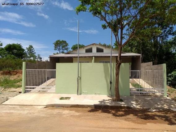 Casa Para Venda Em Várzea Grande, Jardim Paula 2, 2 Dormitórios, 1 Banheiro, 2 Vagas - 382_1-1352574