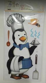 Adesivo Decorativo Para Geladeira Armario Pinguim