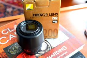 Lente Nikon 55-200mm F4/5.6 Modelo Novo - Retrátil
