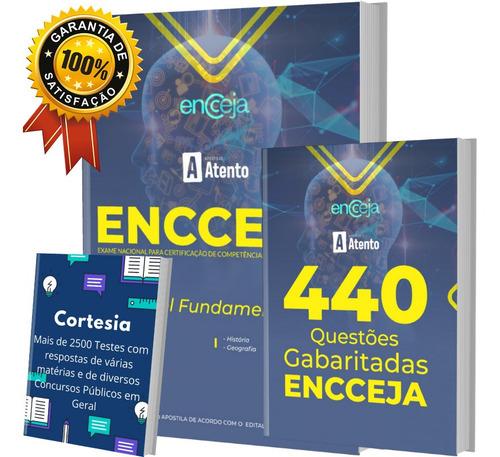 Kit Apostila Encceja - Nível Fundamental + Caderno Testes