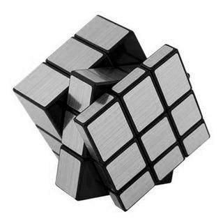 Cubo Mágico Plateado Plata Juego De Ingenio 3x3x3 En Caja