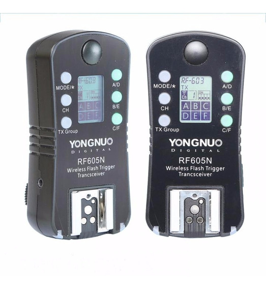 Radio Flash Yongnuo Rf-605n Par - Nikon Garantia Novo