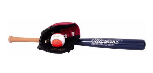 Imagen 1 de 7 de Kit Beisbol Infantil Manopla,bat Y Pelota Palomares Fpx