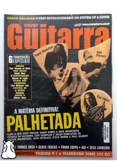 Revista Cover Guitarra N° 128 Palhetada System Of A Down