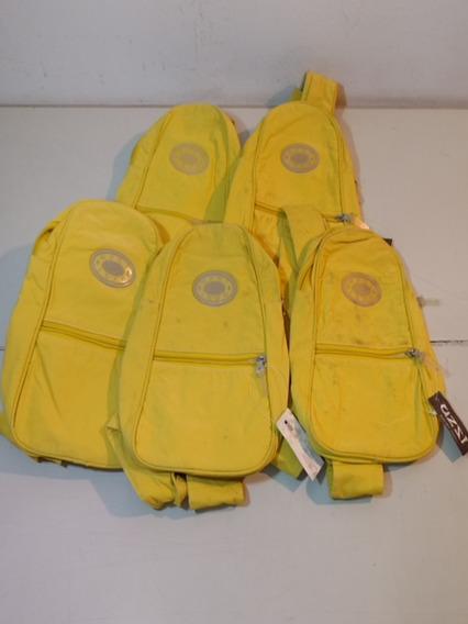 Lote De 5 Mochilas Cruzadas Amarillas