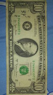 Billete Coleccion De 10 Series 1977 A En 25dl