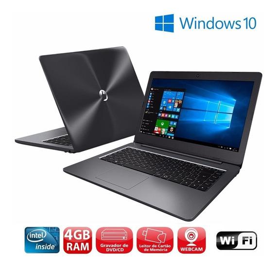 Notebook Positivo N40i 4gb Hd500 Hdmi Win10 Bluetooth