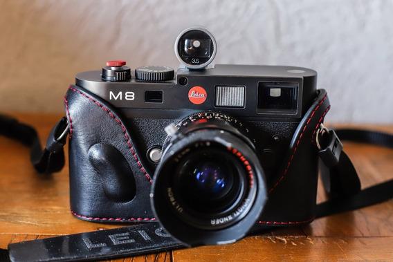 Linda Camera Leica M8 Com Objetiva Voigtlander 28mm F1.9