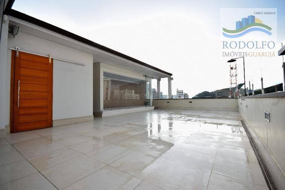 Guarujá Pitangueiras Cobertura Duplex, 180 Mts Úteis, Reformada. R Mario Ribeiro, 1 Vaga. - Co0009