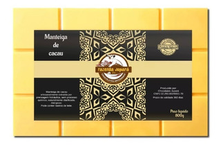 Manteiga De Cacau Pura Comestível Culinária Chocolate - 800g