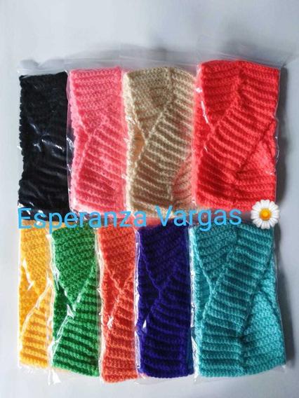 Bandas Turbantes De Estambre Tejidas A Mano Colores Varios